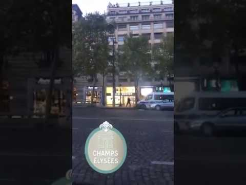 Champs Elysees Paris Video of the shooting by eye witness