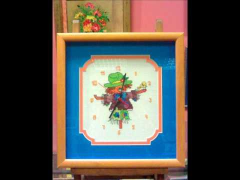 Cuadros de relojes punto de cruz enmarcados youtube for Cuadros cocina punto de cruz