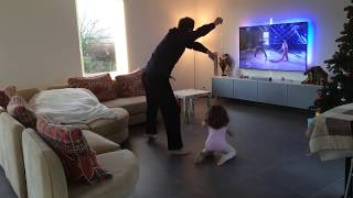 vuclip Loic Nottet & Inès 4 ans - Dancing With The Stars at home :) - Sia Chandelier