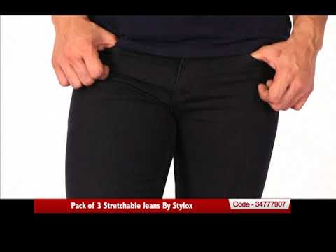 738cdc2e Pack of 3 Stretchable Jeans By Stylox - YouTube