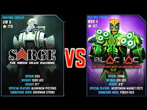 REAL STEEL WRB Sarge VS Blac Jac New Robots UPDATE (Живая Сталь)