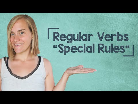 """German Lesson (48) - Regular Verbs - """"Special Rules"""" - A1"""