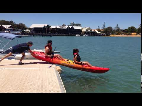 Tandem Kayak launch