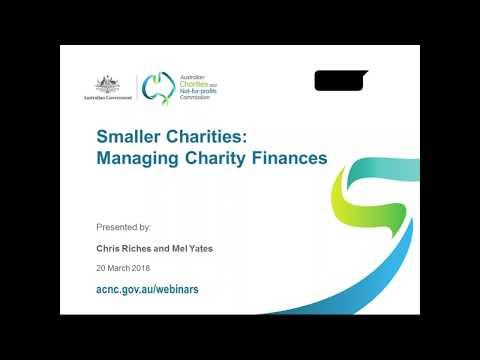 Webinar - Small Charities: Managing Charity Finances - March 20, 2018