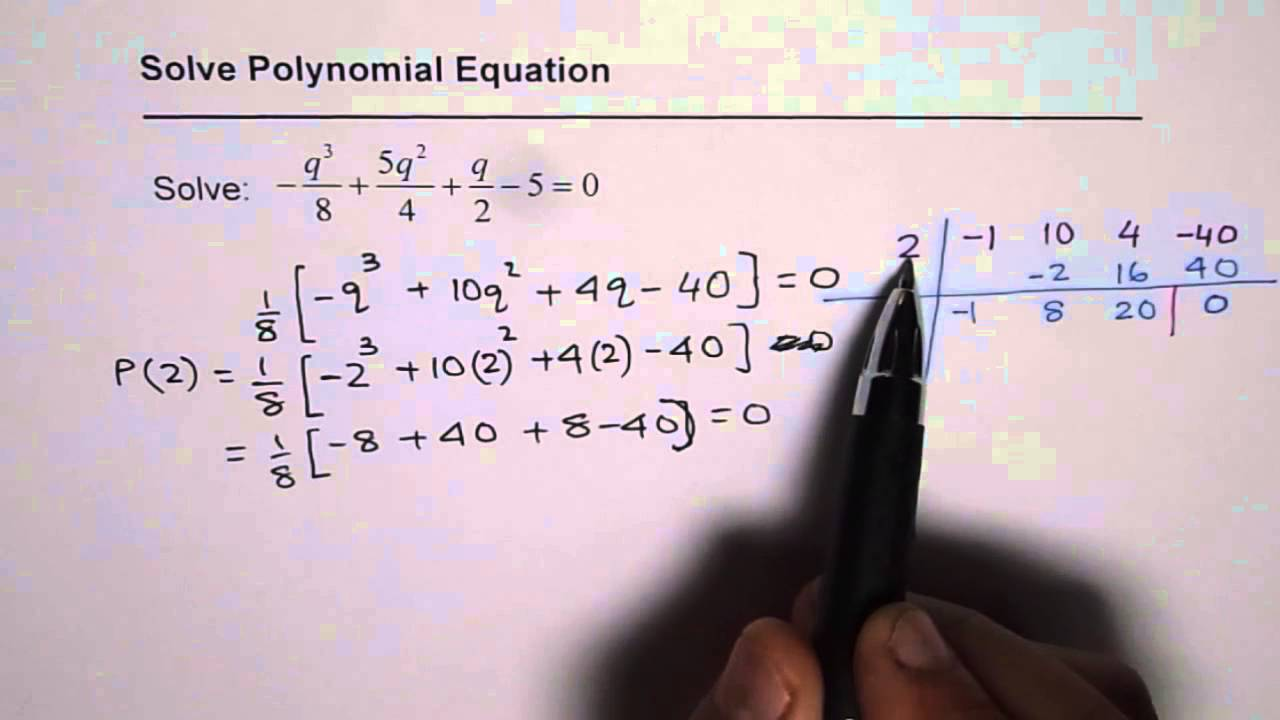 how to find the factors of a cubic polynomial
