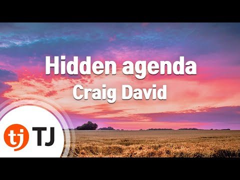 [TJ노래방] Hidden agenda - Craig David (Hidden agenda - Craig David) / TJ Karaoke