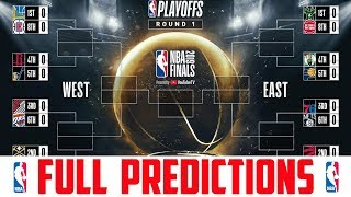 NBA Playoff Predictions 2019 (NBA Playoffs 2019 Predictions) Every Game Every Round