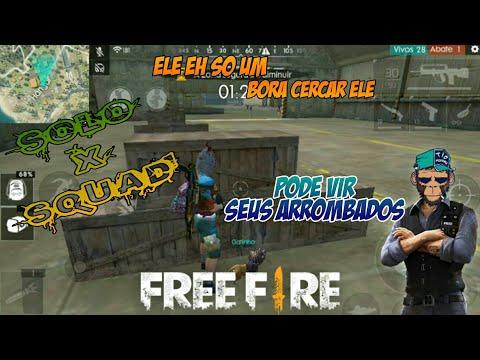 Free Fire - GamePlay《Um SOLO❌SQUAD Básico》