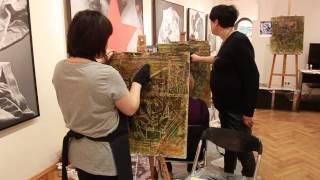 Мастер класс живописи Елены Ильичевой - Сивилла Ливийская