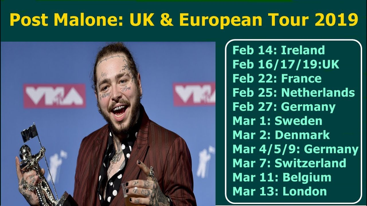Post Malone announces Posty's Runaway US tour with Swae Lee, more