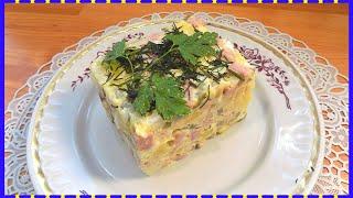 Классический рецепт салата Оливье с колбасой и горошком
