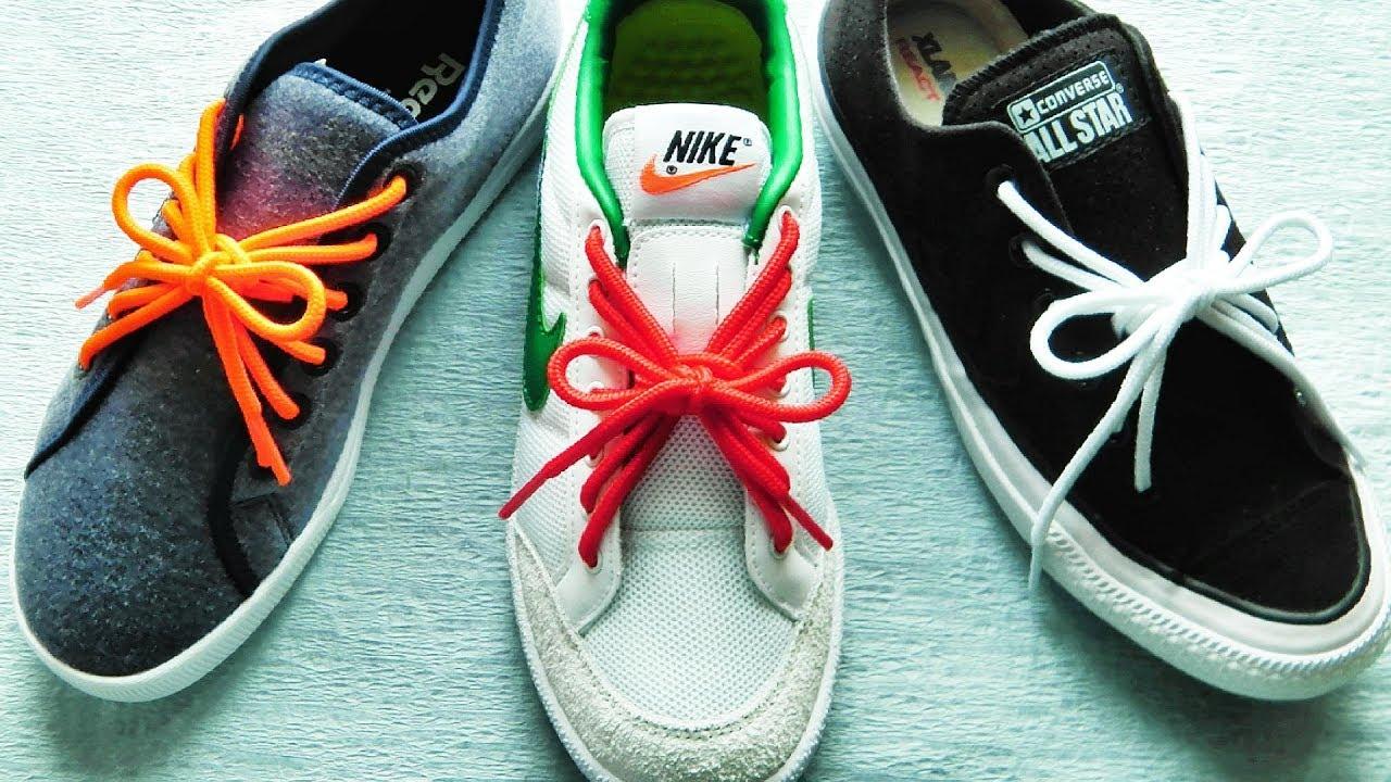 〔靴紐の結び方〕とてもユニークなリボン結びができる靴ひもの通し方 丸ひも編 how to tie shoelaces 〔生活に役立つ!〕