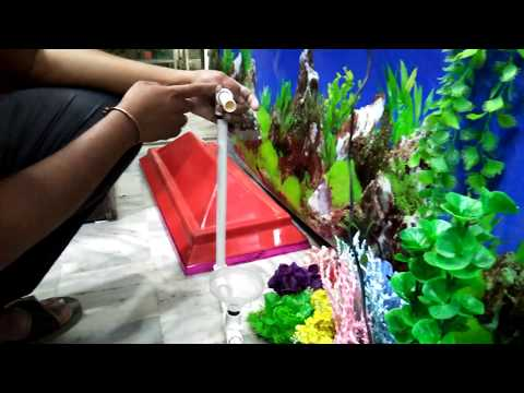 How to create a waterfall fountain in an aquarium at home - try it yourself