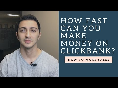 Clickbank Affiliate Marketing Training - How Fast Can You Make Money on Clickbank?