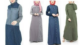 Latest and stylish abaya designs 2018/Denim coats designs 2018/long coat designs