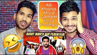 Indian Reaction On KHUJLI FAMILY | AURAT MARCH OR CONFUSED FEMINISM | AWESOMO SPEAKS