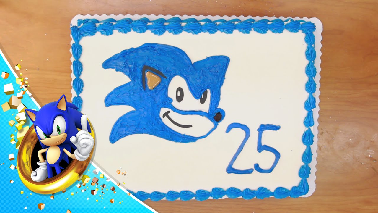 How To Bake A Sonic Cake Youtube