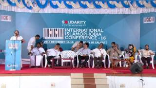 Prof A P Abdul Vahab at International Islamophobia Conference, 2016 Dec 16-18,  University of Calicut