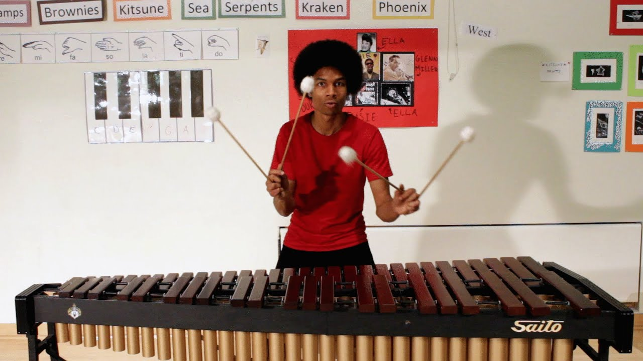 Super Mario Bros. on Marimba (with 4 Mallets) by Aaron ...