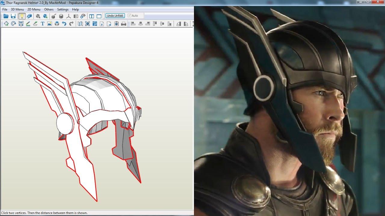 Top Thor Ragnarok - Thor Helmet - Pepakura Files - YouTube DX64