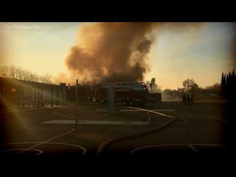Fire destroys wing of classrooms at Modesto's Bret Harte Elementary school