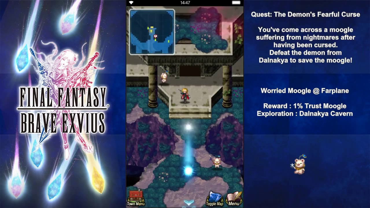 Ffbe Worried Moogle 3 4 5 Quest The Demons Fearful Curse