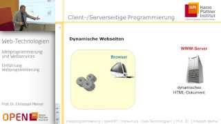 "openHPI Kurs ""Web-Technologien"", Woche 4, Kapitel 1 - Webprogrammierung"