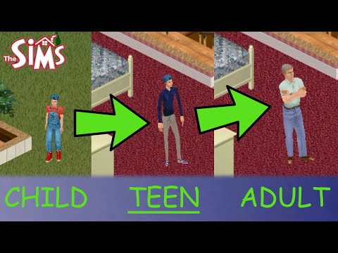 AGING And TEENS! Sims 1 Let's Play WITH MODS #1