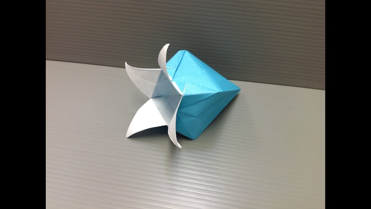 Blue origami flower gardening flower and vegetables daily origami 130 harebell or bluebell flower youtube mightylinksfo Gallery