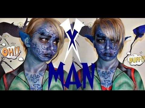 Make Up Tutorial | Х MAN| ЛЮДИ ИКС | ЧЕРТ | ШОК | ДЬЯВОЛ | СИНЯЯ ДЕВУШКА