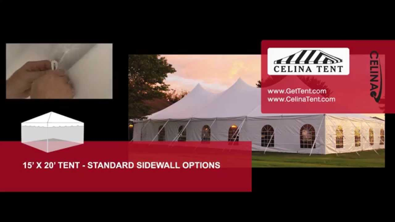 15u0027 x 20u0027 Tent u0026 Canopy - Standard Sidewall Options  sc 1 st  YouTube & 15u0027 x 20u0027 Tent u0026 Canopy - Standard Sidewall Options - YouTube