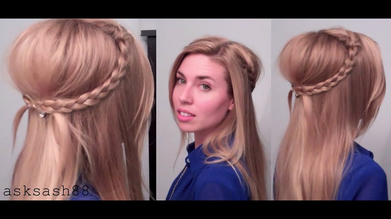 bohemian 70's braids - easy, everyday, quick hairstyles for long hair & medium hair