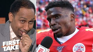 Stephen A. responds to Tyreek Hill's trash-talk | First Take