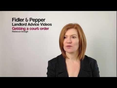 Getting a court order for possession
