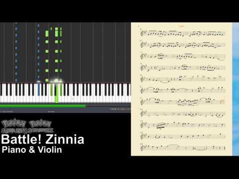 Pokémon ORAS - Battle! Zinnia (violin & piano score)