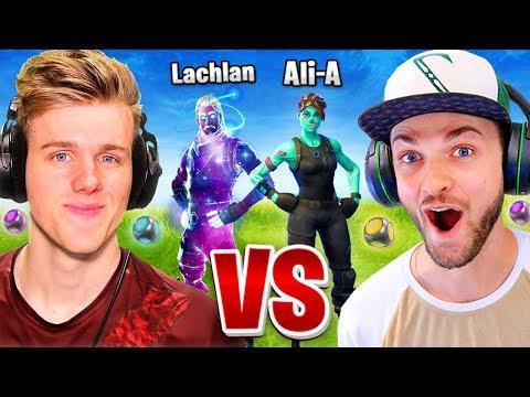 Ali-A vs Lachlan... Fortnite 1vs1! (Port-A-Challenge)