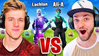Ali-A vs Lachlan... Fortnite 1vs1! (Port-A-Challenge)
