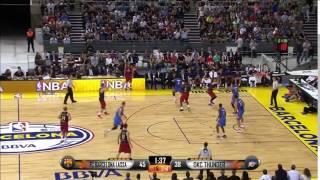 Victor Oladipo With the Big Block   Thunder vs Barcelona   October 5, 2016   2016 17 NBA Preseason