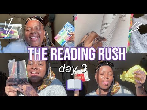 How I Annotate Books, Random Mukbang & ACTUALLY reading | Reading Rush Day 3 Vlog | Sincerelytahiry