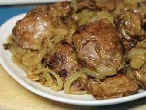 Как приготовить вкусную куриную печень на сковороде