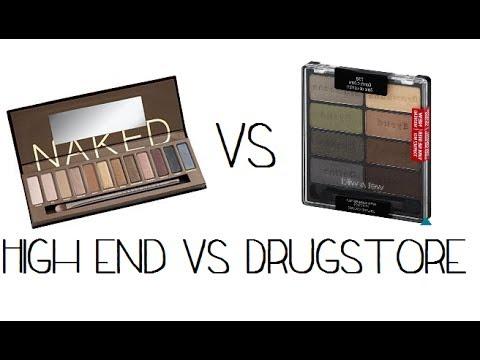 drugstore vs high end makeup rawbeautykristi youtube. Black Bedroom Furniture Sets. Home Design Ideas