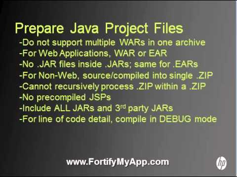 HP Fortify My App: How to Upload Java
