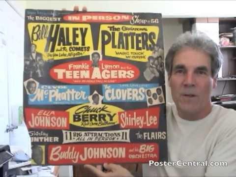 ++++ 1956 *BILL HALEY /& THE PLATTERS CONCERT POSTER