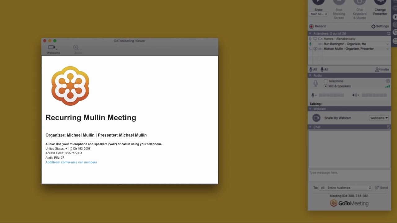 How to set up a conference call on gotomeeting