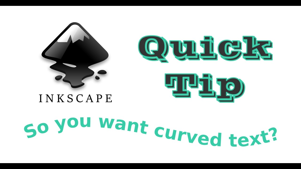 Using Inkscape's Path Effects tool to easily create curved text