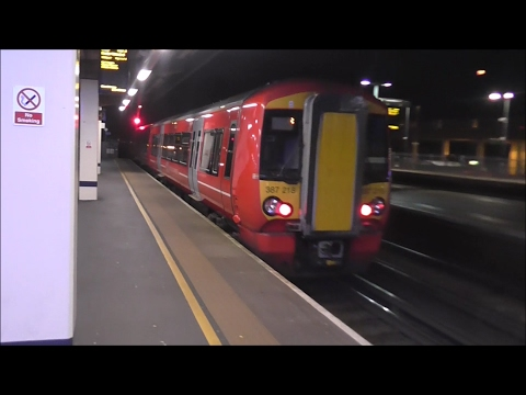Gatwick Express Class 387 Electrostar Ride: Brighton to Gatwick Airport - 27/01/17