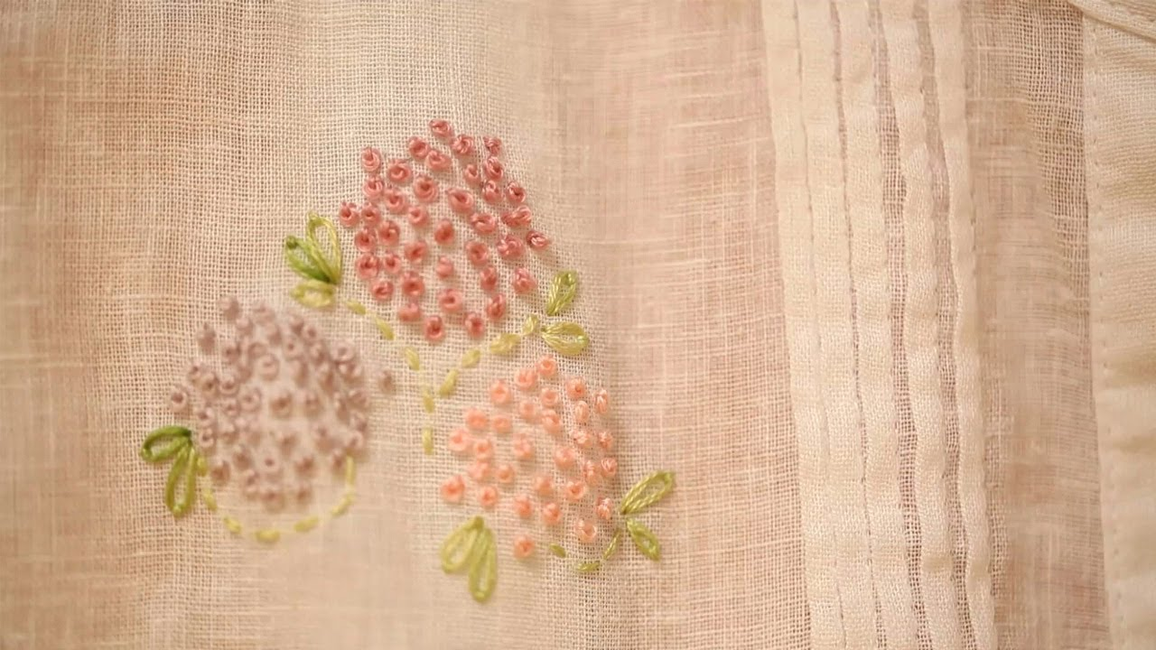 how to embroider a french knot kin diy youtube