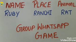 Group Game/WhatsApp Game/Kitty Party Game/Birthday party game