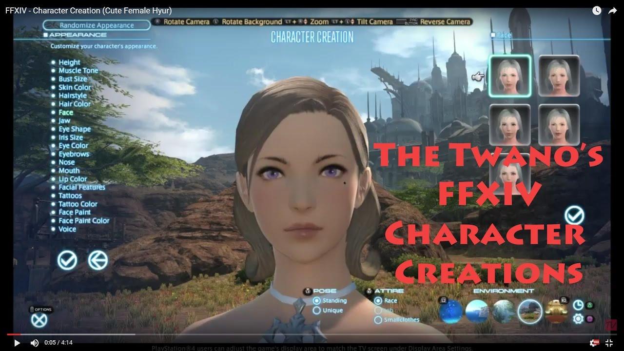 Final Fantasy XIV - Character Creation (Cute Female Hyur)