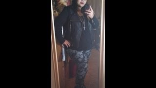 Floral, Black, and Gold Plus Size OOTD Thumbnail
